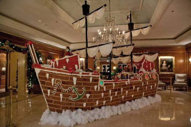 World's Largest Gingerbread Pirate Ship, in Amelia Island, Florida