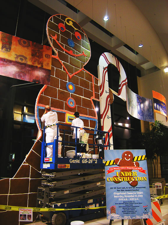 World's Largest Gingerbreadman, built in 2009 in Madison, Wisconsin.