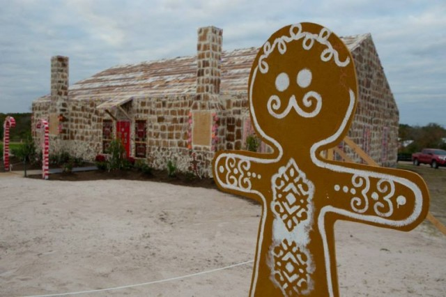 World's Largest Gingerbread House, built in Bryan, Texas in 2013